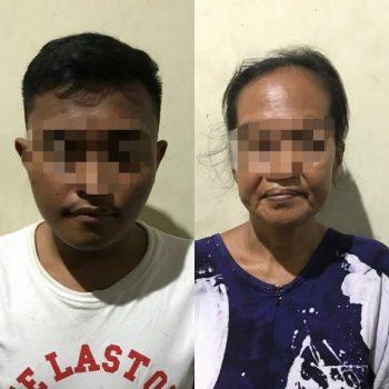 NR (24) dan TS (44), Diamankan Petugas satuan Narkoba Polrestabes makassar, Senin (2/3/2020)