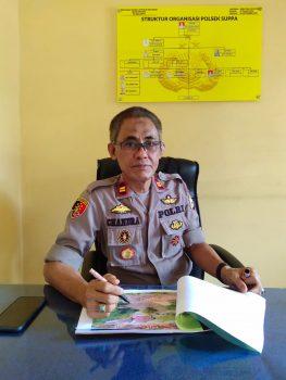 Kapolsek Suppa Polres Pinrang IPTU Chandra Hasan ( Foto/Handover)