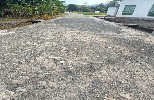 Pembangunan Rabat Beton di dusun Salubanga Desa Muhajirin Kecamatan Suli Barat Kabupaten Luwu Sulawesi Selatan yang di sorot LSM Perak Sulsel, Rabu (30/9/2020)