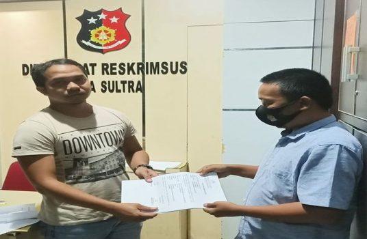 LAK-HAM INDONESIA saat melapor ke Mapolda Sultra